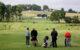 på golfbanen