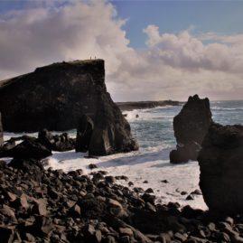vulkan ved kysten