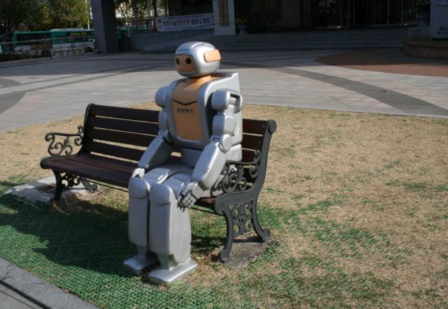 Robot på bænk